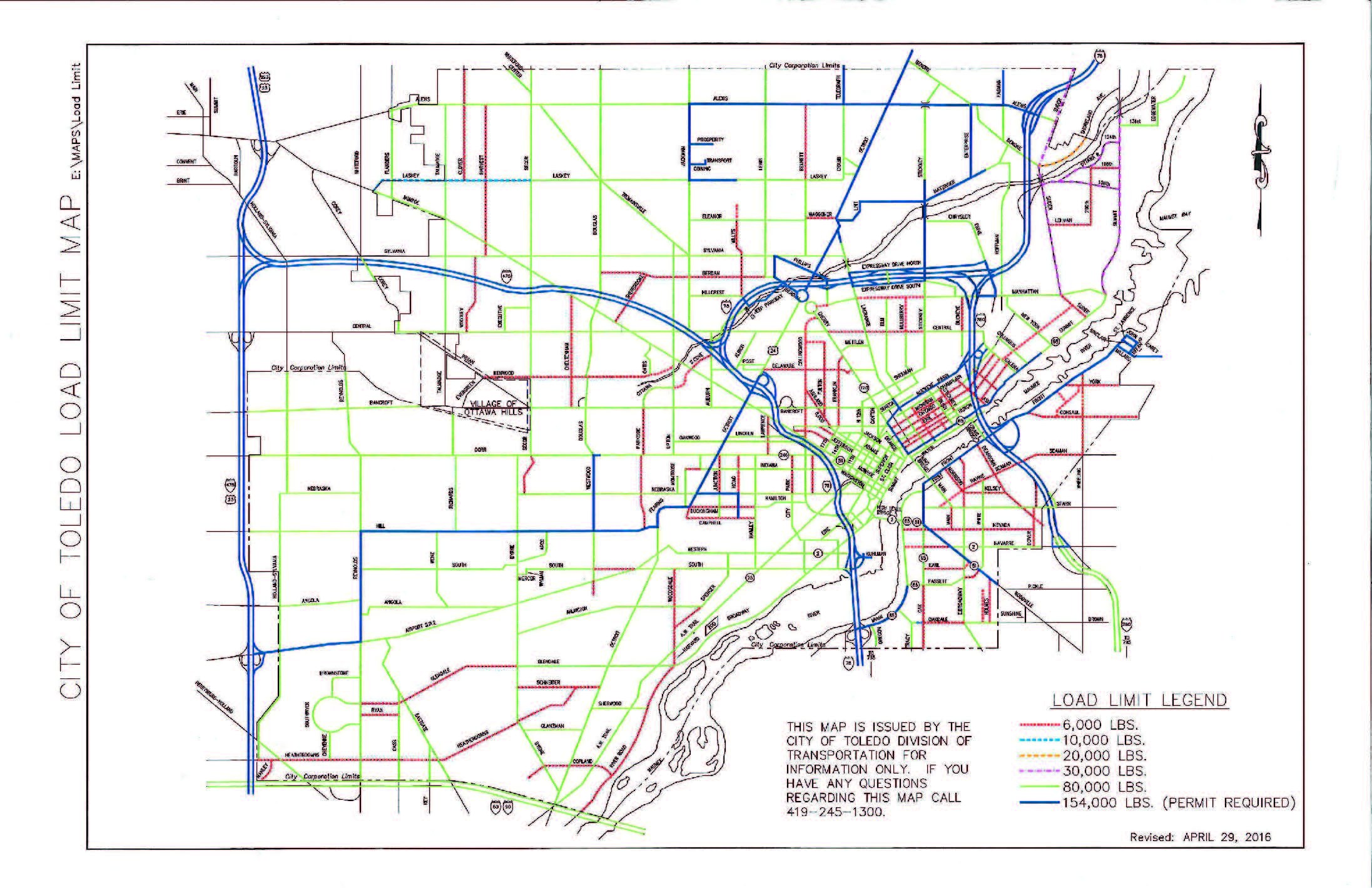 City of Toledo Approved Truck Routes